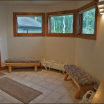 Couloir entry way with boot dryers