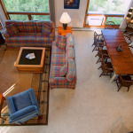 Couloir living and dining room from loft